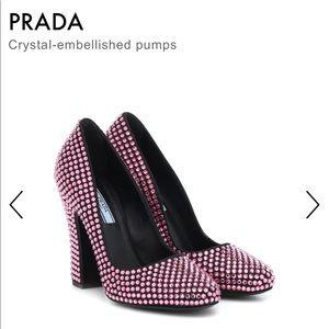 PRADA Crystal-embellished pumps